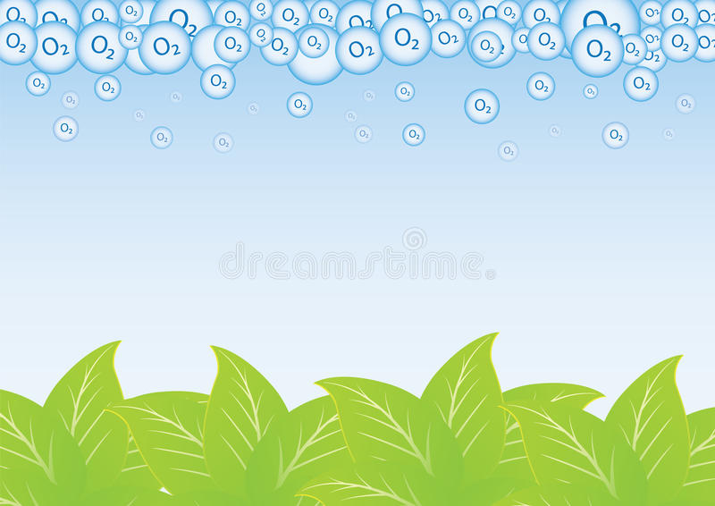 Download Leaf and oxygen stock vector. Illustration of meadow - 25803095