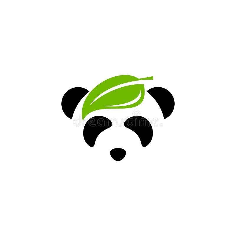 Leaf panda logo vector design vector illustration