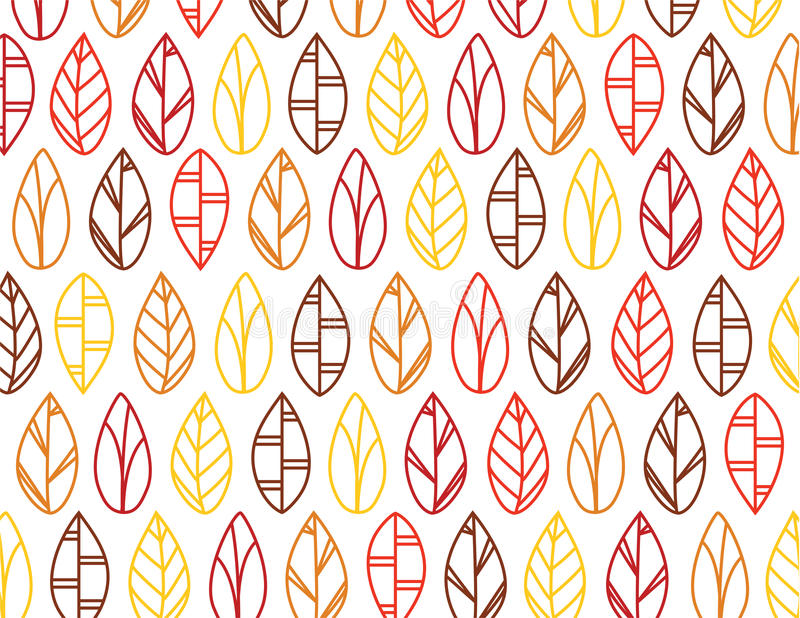 Leaf pattern royalty free illustration