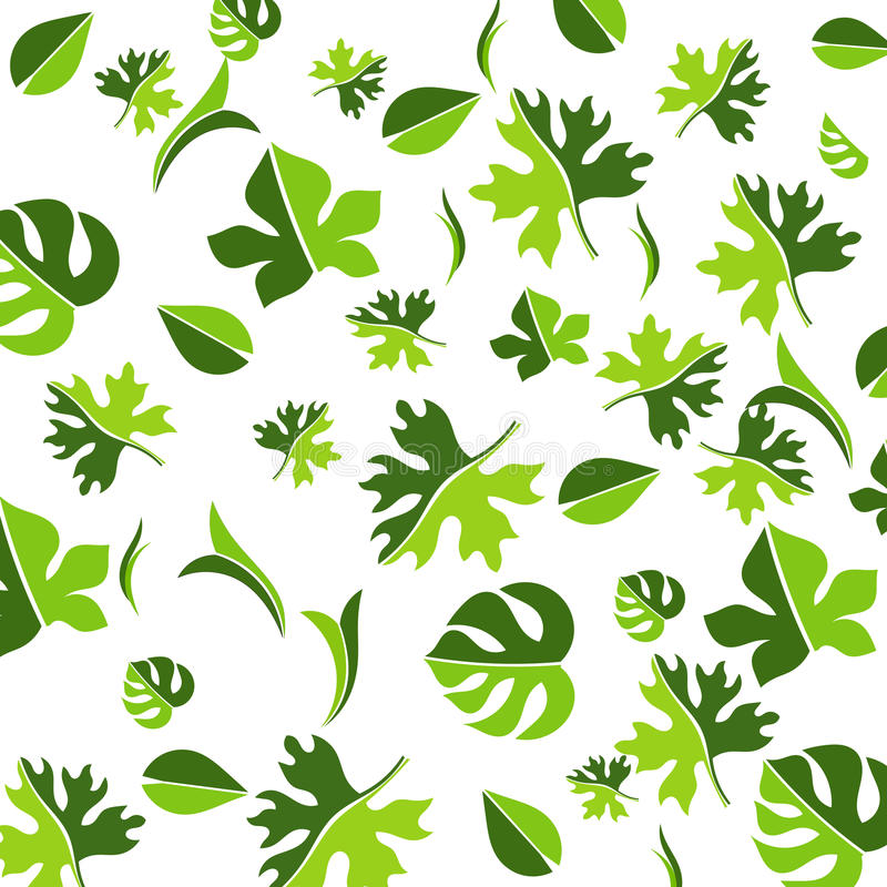 Download Leaf Pattern stock vector. Image of leaves, nature, pattern - 20374452