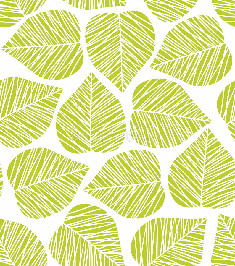 Leaf pattern vector illustration