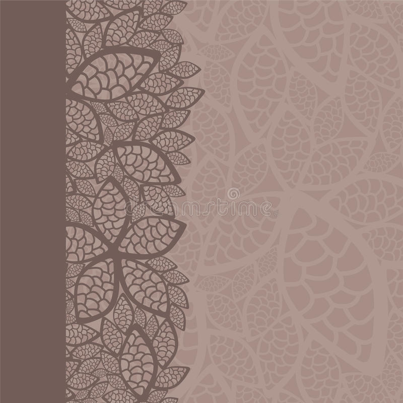 Leaf pattern border and background royalty free illustration