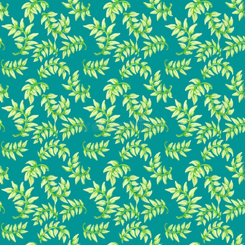 Leaf pattern stock illustration