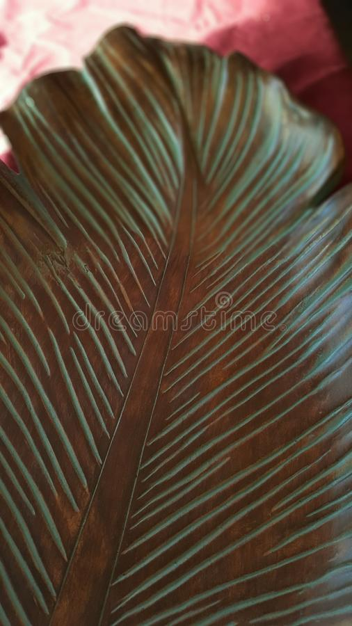 Leaf platter royalty free stock photo