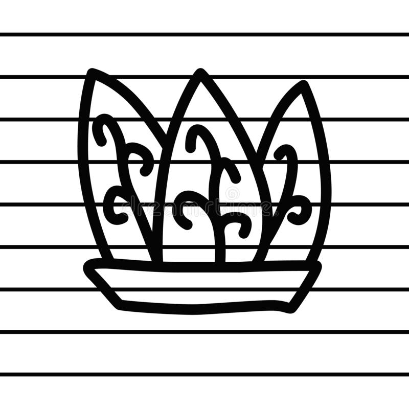 Leaf in a pot logo in cartoon images on paper. can be applied to various media either paper or plastic. This leaf in a pot logo c. An also be used for various stock illustration