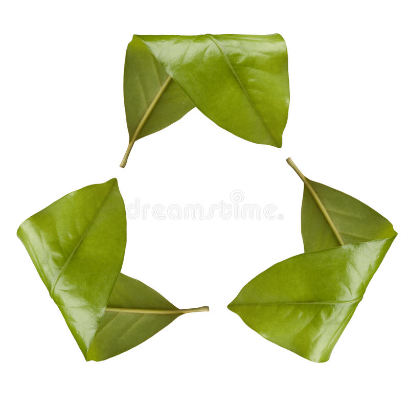 Leaf Recycling Symbol royalty free stock images