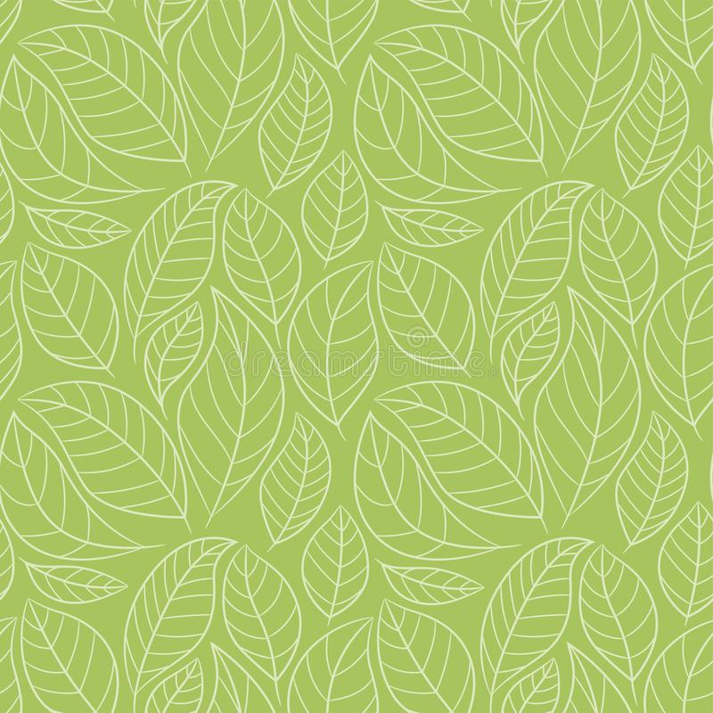 Free Leaf Seamless Pattern. Abstract Floral Background With Leaves. Green Color Stock Photos - 135028513
