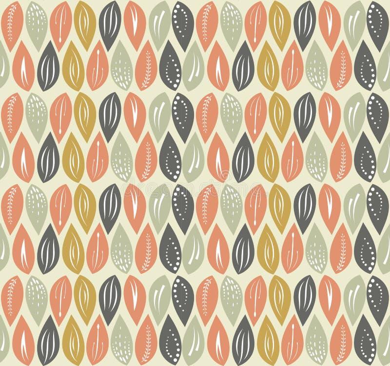 Leaf seamless pattern background. Editable color background royalty free illustration