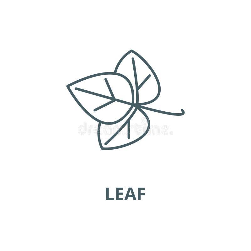 Leaf, spice vector line icon, linear concept, outline sign, symbol royalty free illustration