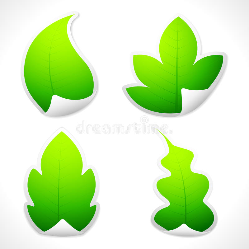 Download Leaf Sticker stock vector. Image of conversation, group - 21352246