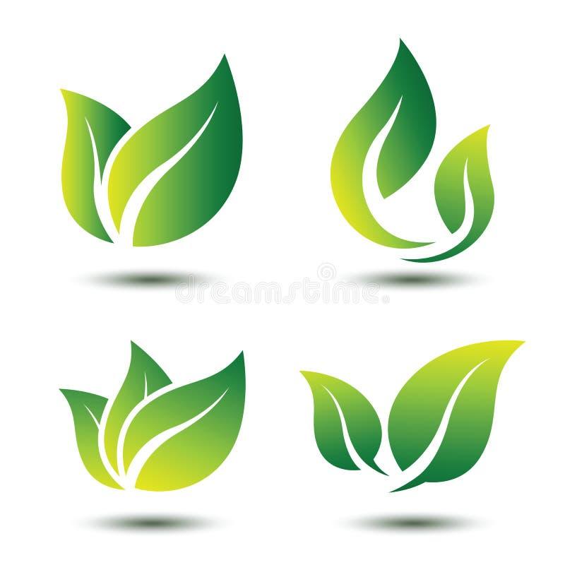 Leaf symbol stock illustration