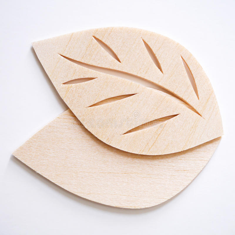 Leaf symbol logo concept, wood cutting design illustration icon. Sign stock image