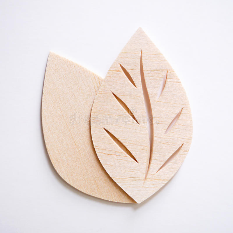 Leaf symbol logo concept, wood cutting design illustration icon. Sign royalty free stock photos
