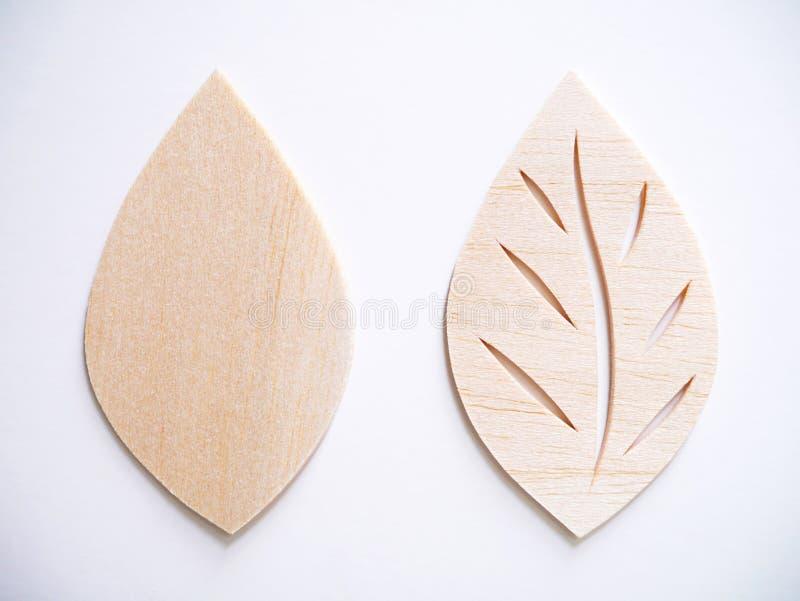 Leaf symbol logo concept, wood cutting design illustration icon. Sign stock photography