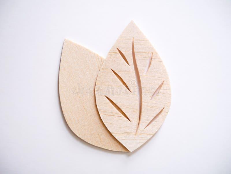 Leaf symbol logo concept, wood cutting design illustration icon. Sign royalty free stock image