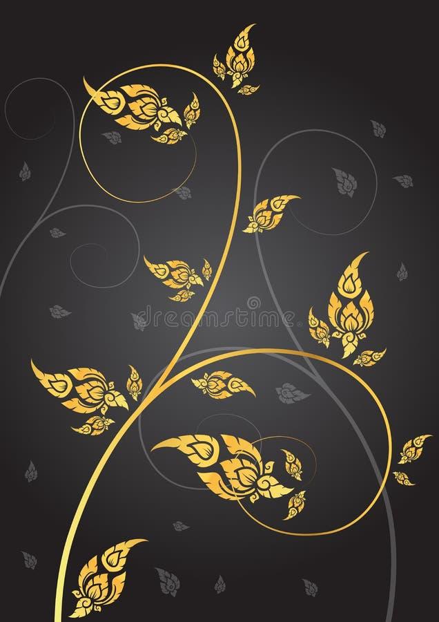 Leaf of thai tradition. Vector vector illustration
