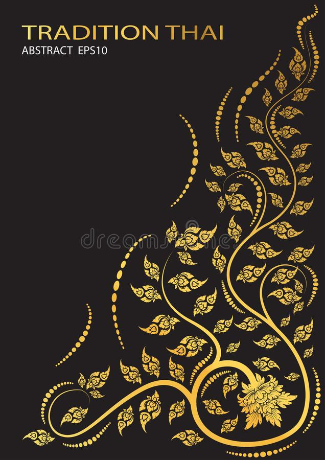 Leaf of thai tradition. vector. Leaf of thai tradition background. vector vector illustration