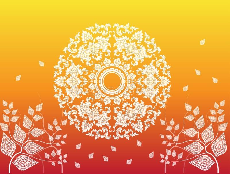 Leaf of thai tradition vector. Illustrator royalty free illustration