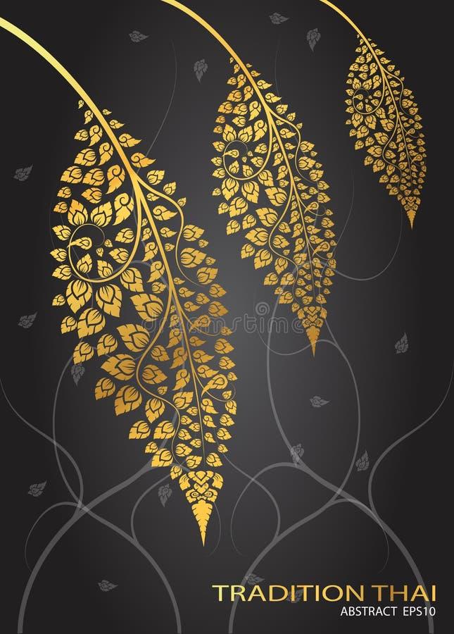 Leaf of thai tradition vector. Illustrator stock illustration