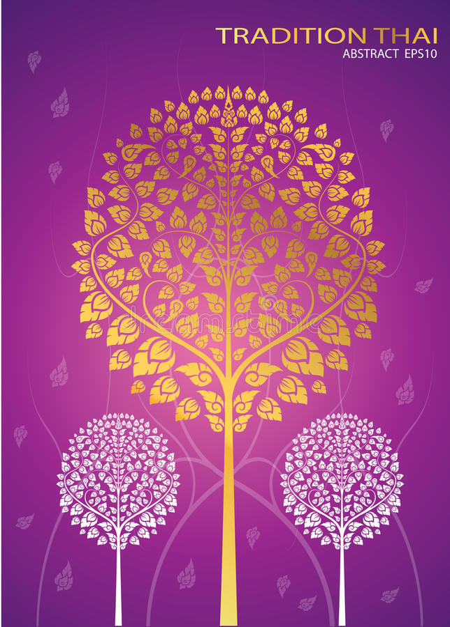 Leaf of thai tradition vector. Illustrator vector illustration