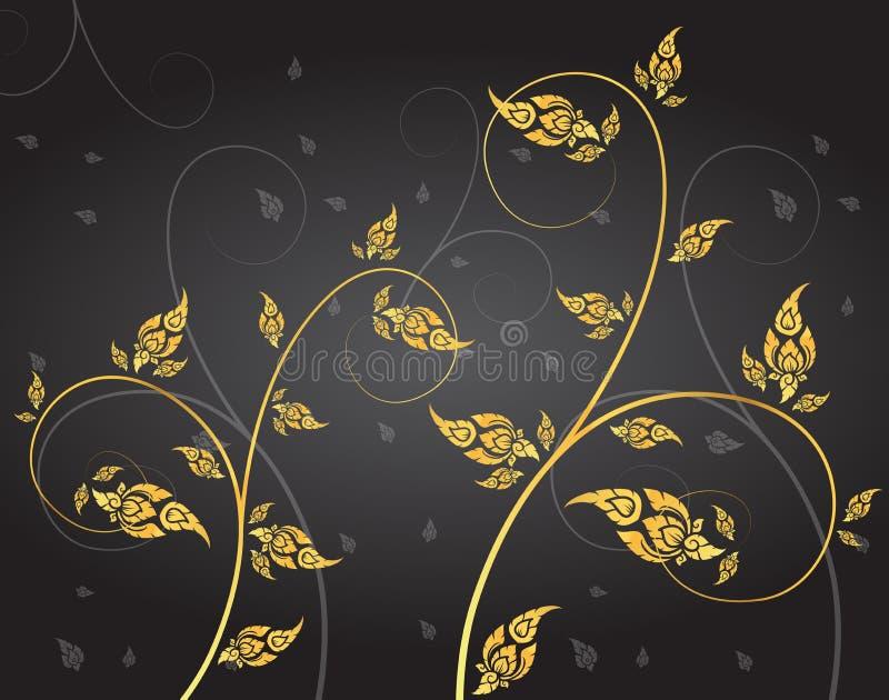 Leaf of thai tradition vector. Leaf of thai tradition illustration vector royalty free illustration