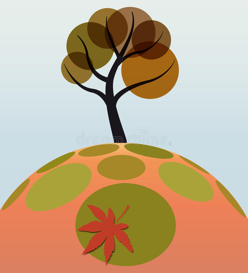 Download Leaf tree on grass stock vector. Illustration of tree - 21764576