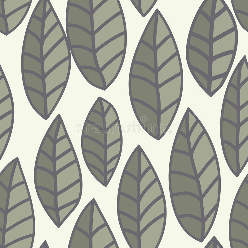 Leaf vector pattern. Seamless doodle flowers. Image, flower.