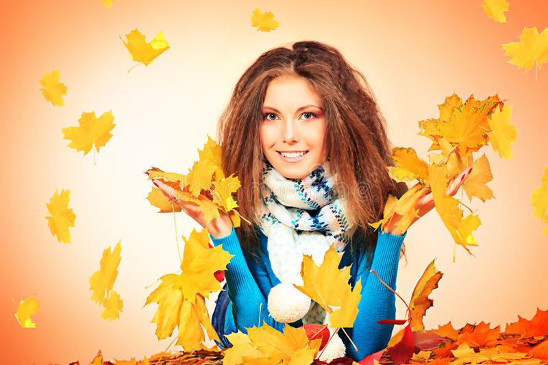 Download Leafage stock photo. Image of fashion, fall, model, clothing - 27525882