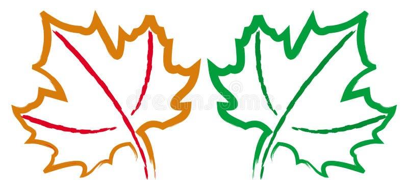 leaflönn stock illustrationer