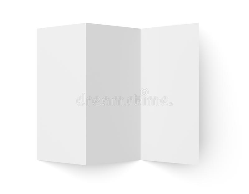 Leaflet blank tri fold white paper brochure stock for Cardboard brochure holder template