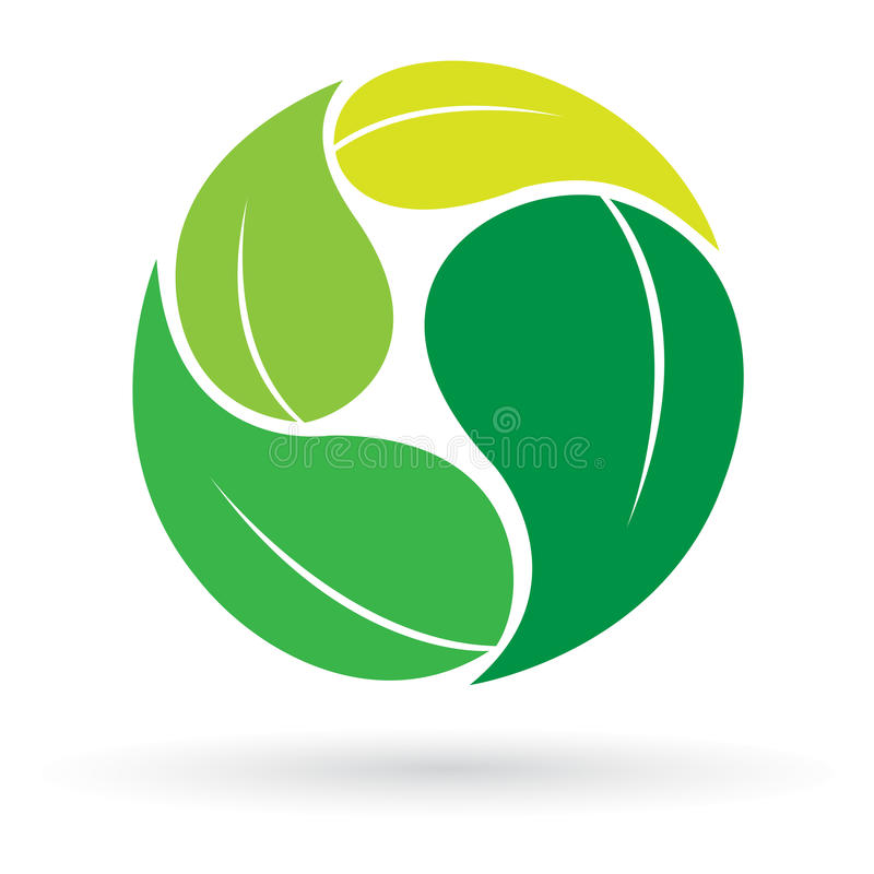 Leaflogo stock illustrationer