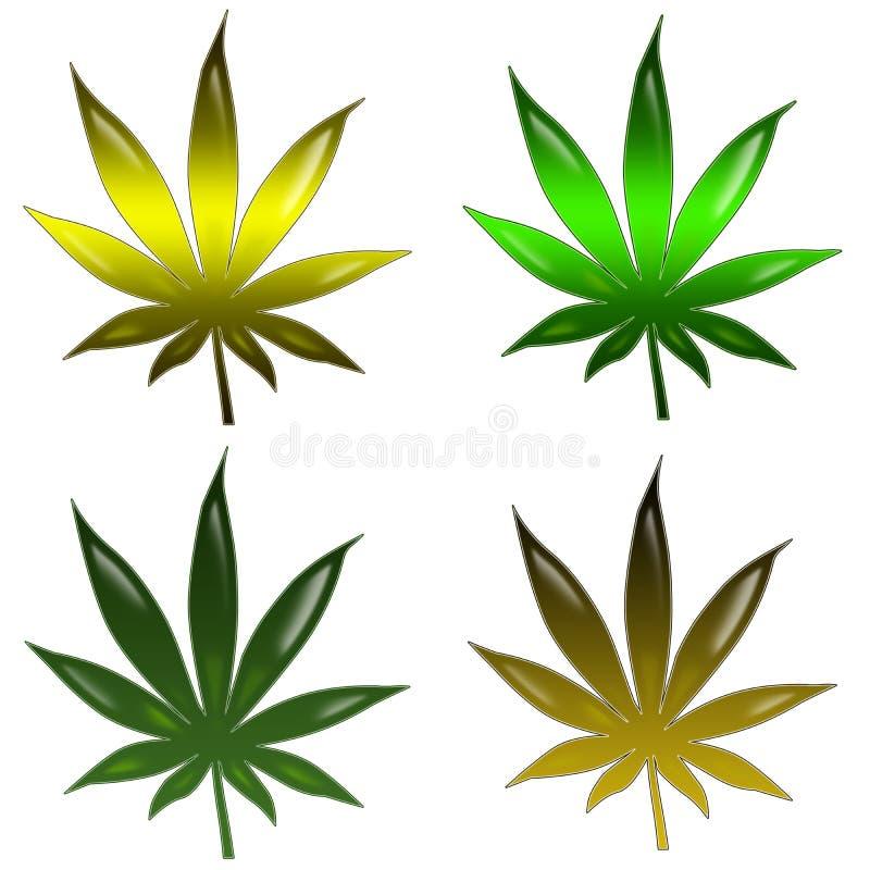 leafmarijuana royaltyfri illustrationer