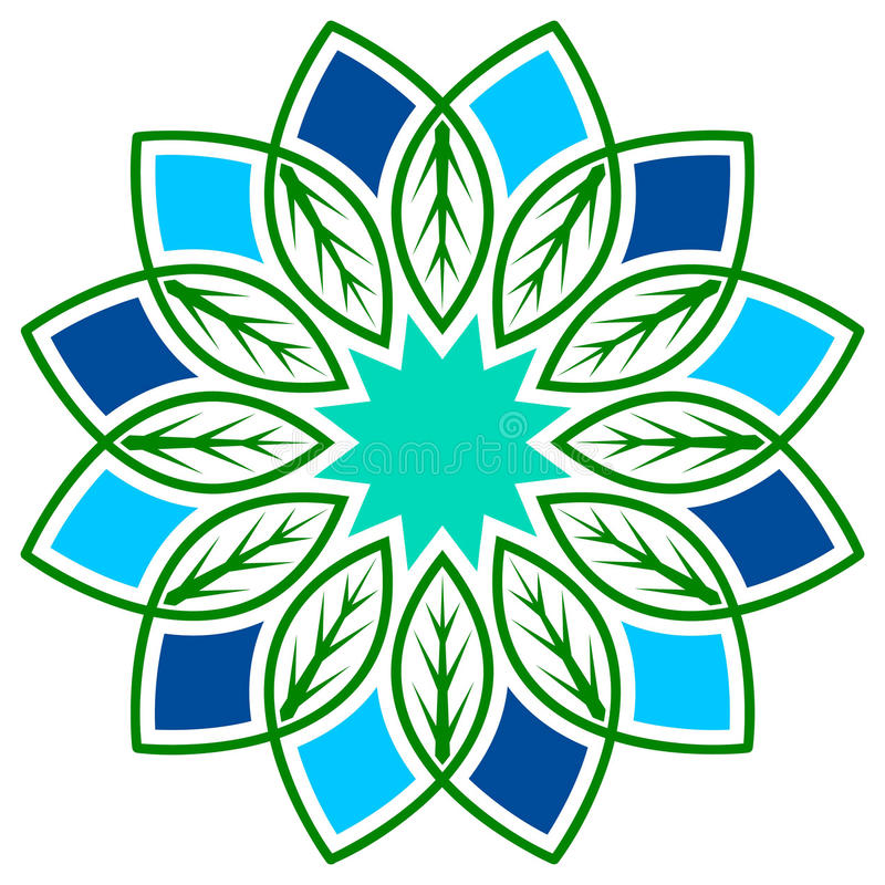 Leafs flower vector illustration