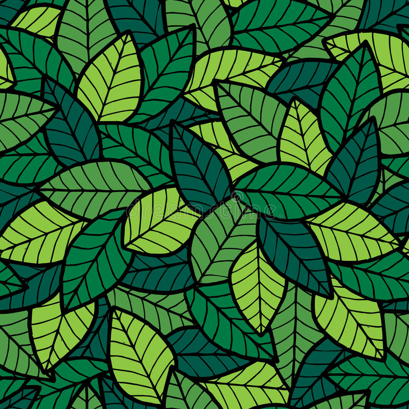 Download Leafs Seamless Pattern Spring Stock Vector - Image: 39126078