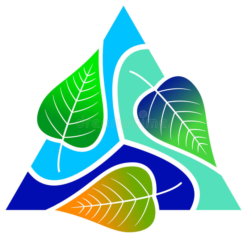 Download Leafs with triangle stock vector. Image of icon, environment - 18358882