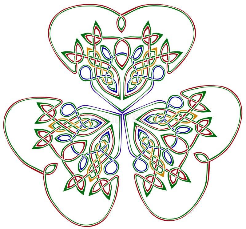 leafshamrock tre royaltyfri illustrationer