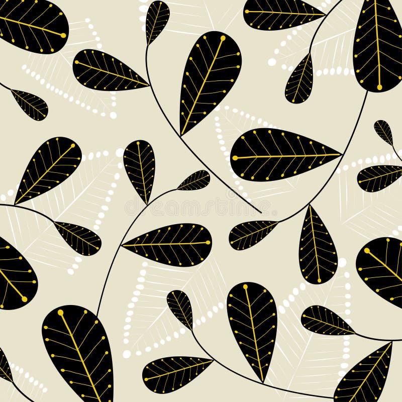 leafvektorwallpaper vektor illustrationer