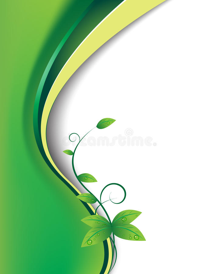 Download Leafwave stock vector. Image of illustration, dewdrops - 9373274
