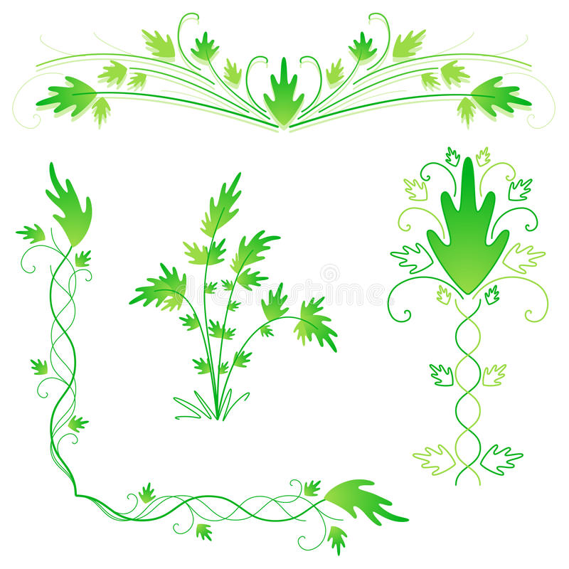 Download Leafy flourishes stock vector. Illustration of green - 15031428