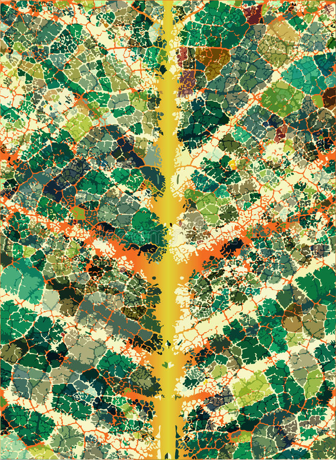 Leafy veins royalty free illustration