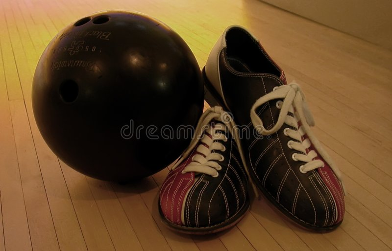 Download League Night stock photo. Image of equipment, lane, bowling - 4548