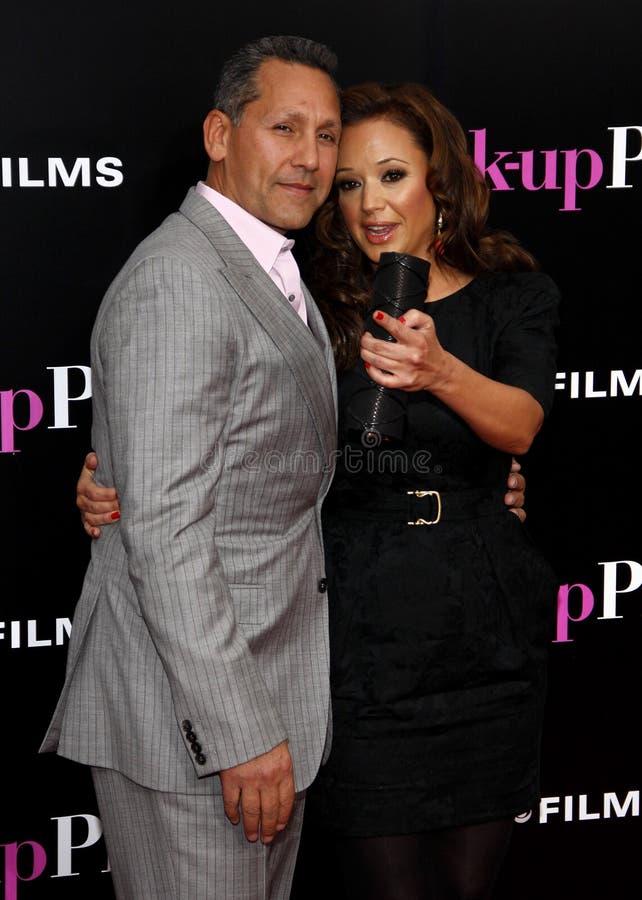 Leah Remini i Angelo poganin zdjęcia royalty free