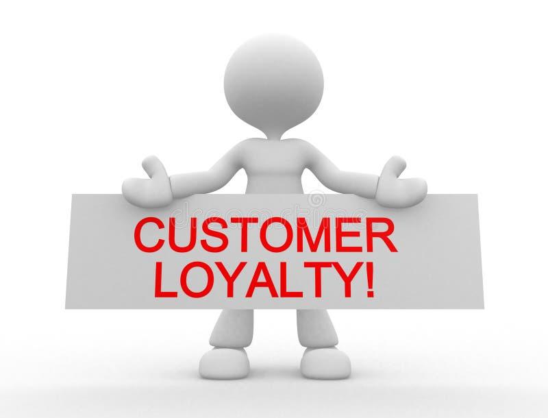 Lealdade do cliente! ilustração stock