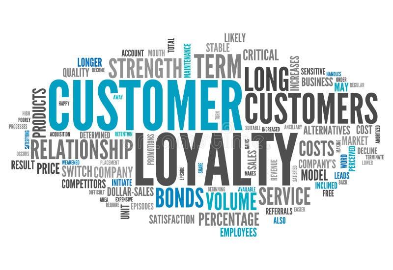 Lealdade do cliente da nuvem da palavra ilustração royalty free
