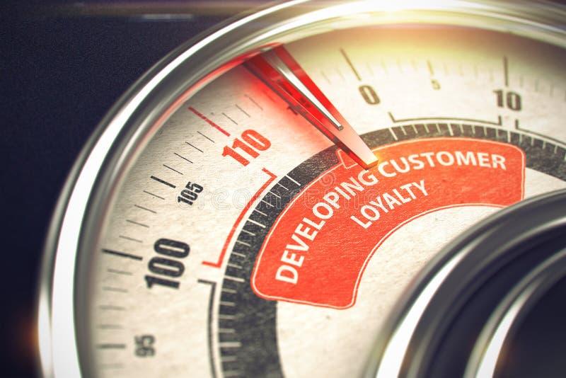 Lealdade tornando-se do cliente - conceito do modo do negócio 3d ilustração do vetor