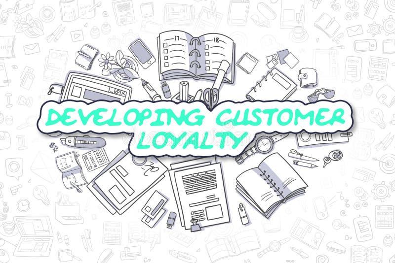Lealtà di sviluppo del cliente - concetto di affari royalty illustrazione gratis