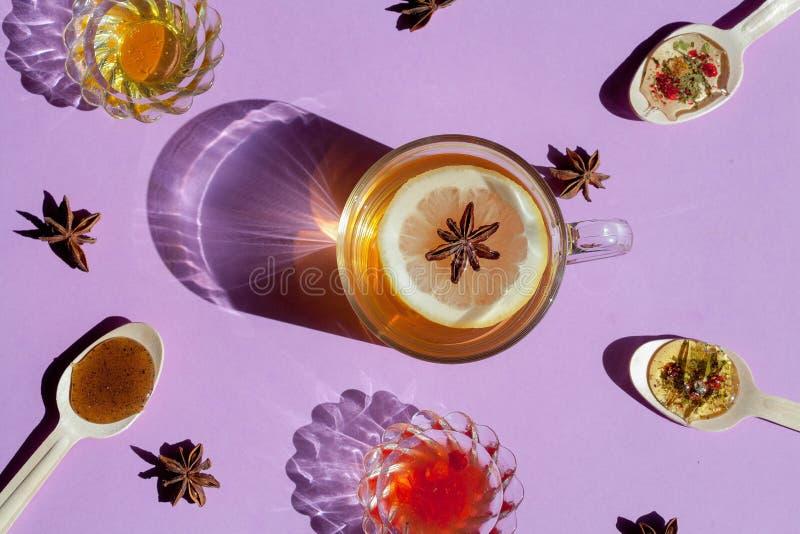 Leamon herbaciany odgórny widok obrazy royalty free