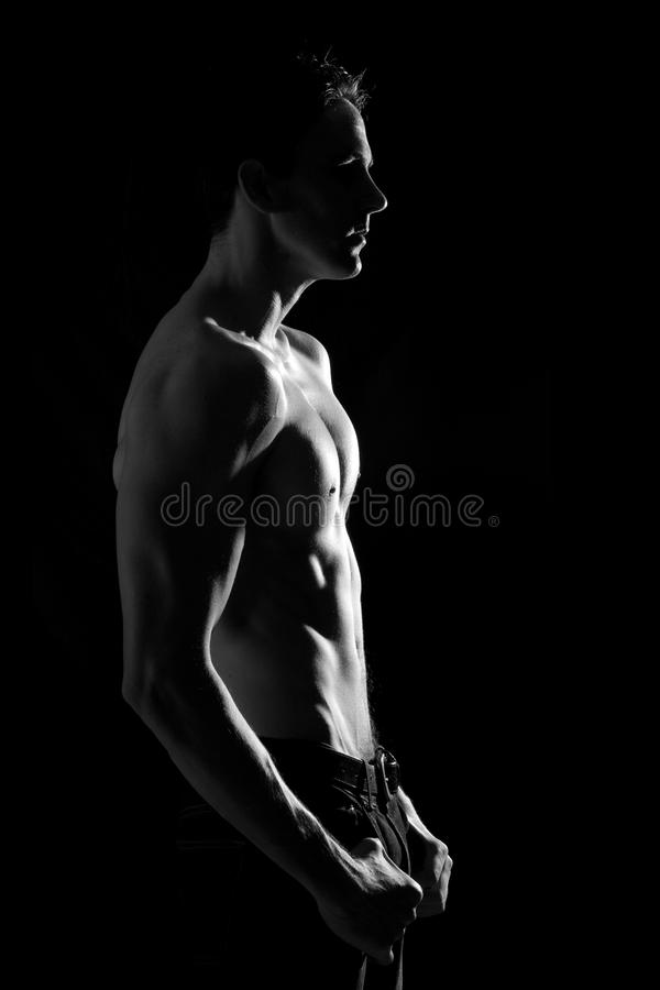 Lean And Fit Male Royalty Free Stock Photography