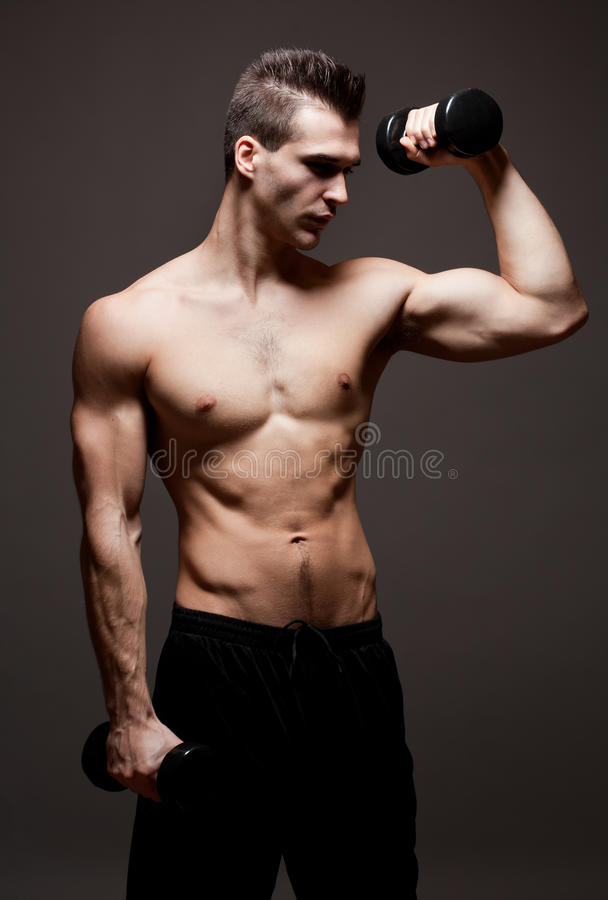 Download Lean and mean. stock photo. Image of person, exercise - 33652756