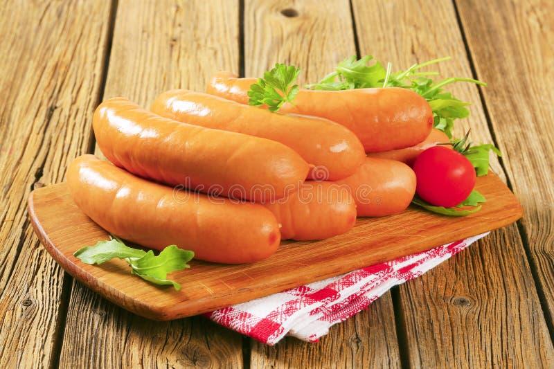 Lean smoked sausages stock image